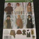 Simplicity 4781 1 hour Ponchos Vest Scarf Head Band Bag Sewing Pattern