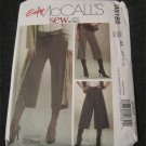 McCalls 5185 Misses Pants Belt Gaucho Sash Sewing Pattern Size 6-12