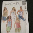 McCall's 4026 Misses Lined shoulder strap bra top sewing pattern size 4,6,8,10