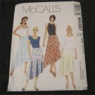 McCall's 4387 Sewing Pattern Misses Flared Godet,Asymmetrical Skirt Size 4,6,8,10