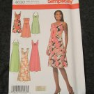 Simplicity Sewing Pattern 4630 Summer Dress,strapless Sundress,Tie Straps Size 6 8 10 12