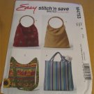 McCall's sewing Pattern  4753 Fashion Accessories - Bags,totes,handbag