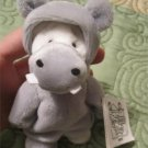 "Potamus the Hippo  5"" Plush from Wee Bear (Bear In Hippo Costume) RETIRED New w/ Tag"