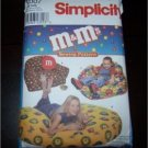 Vintage M&Ms (Candy) Beanbag Chair Pattern Simplicity 9007 Uncut -Hard To Find