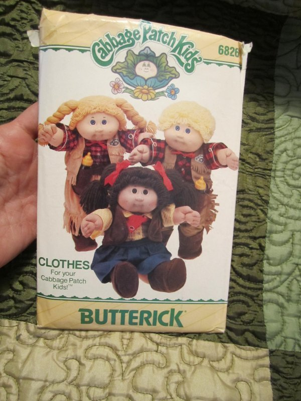 Butterick Pattern 6826 Cabbage Patch Cowboy And Cowgirl Outfits Doll Clothes