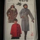1970s VINTAGE Fabric Pattern HOODED COAT JACKET w/ detachable hood Size 14-16 FREE SHIPPING
