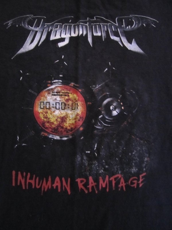 Dragon Force - Inhuman Rampage Concert Tour Shirt 2006 Europe and Japan Size Adult Small