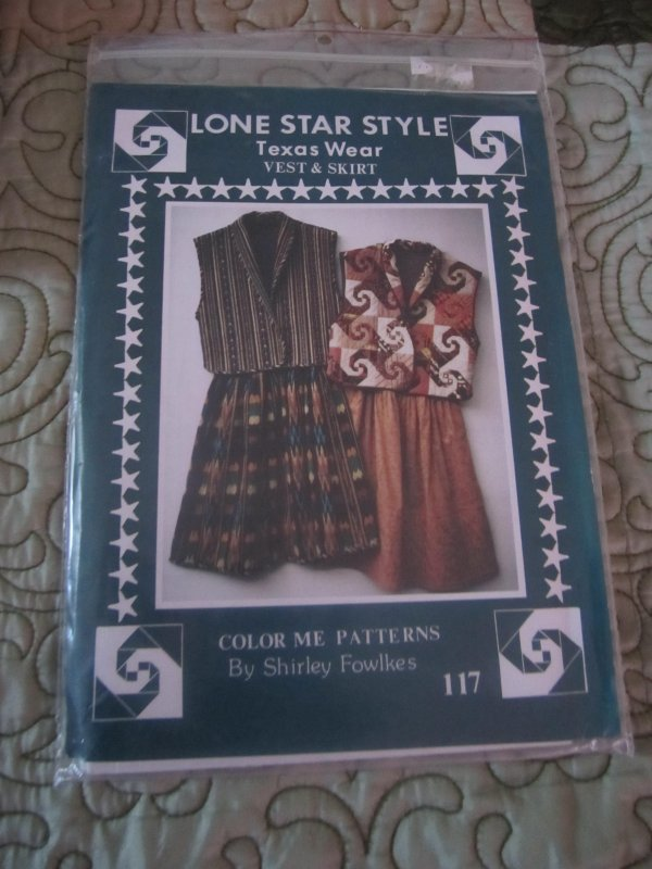 Lone Star Style Texas Wear Quilted vest and skirt Small-XL (Quilt,Quilting)