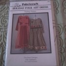 Fabriccraft Holiday (Christmas) Folk Art Dress Pattern Misses XS6-8 to LG 18-20