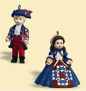 New Hallmark Ornament Yankee Doodle and Celebrating America Madame Alexander