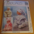 McCall's Sewing Pattern 2977 Baby Bunting & Hats (Polar Fleece) Size 13 - 24 lbs.
