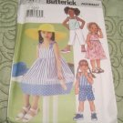 Butterick sewing pattern 3477 girls dress,top,short,pants size 2,3,4,5
