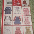 Butterick Pattern 6955 Toddler's Dress & Pinafore Sizes 1 2 3 4