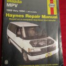Haynes Repair Manual, Mazda MPV 1989-1994