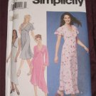 Simplicity 9258 Pattern Long Semi Fitted Dress Empire waist.Asymmetrical.Size 6,8,10,12