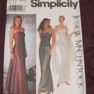 Simplicity Pattern 9484 Bustier Bridal Prom Evening Gown Formal Dress Size 4,6,8,10