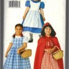 Butterick ~ Girls Little Red Riding Hood,Alice,Dorthy Costumes Pinafore and Cape Costume Sizes 2-6X