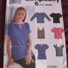 Simplicity 7175 Misses Summer  knit tops 6 Made easy