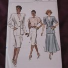 Vogue Patterns 9819 Misses Jacket Skirt & Top 12,14,16 (Butterick 80's)