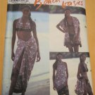 Pattern 2474  Misses Beach Wear Bikini Wrap,Halter top,Skirt or Dress, JacketSize 6 8 10 12 14 16