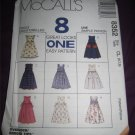 McCall's Sewing Pattern 8352 Girls Size 6,7,8 Easy Jumper