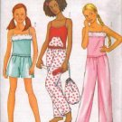 Butterick 6897 Girls' Lounge/Sleepwear with Top, Shorts, Pants, Bag and Mask Pattern