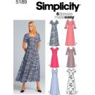 Simplicity 5189 Misses/Miss Petite Pullover Dress-Size 16,18,20,22