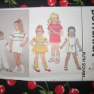 Butterick 6567 Toddlers' or Children's Dress, Top, Jumpsuit , Shorts and Pants Size 4