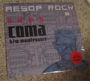 "Aesop Rock Coma b/w Maintenance RARE Blockhead OOP 12"" Vinyl Record"