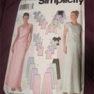 Simplicity Pattern 9687 Evening Tops, Straight or Flared Skirts Sizes 6 8 10 12 UNCUT