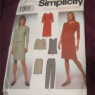 Simplicity 9404 Misses Dress Tunic Top Pants Skirt Sewing Pattern 8,10,12,14