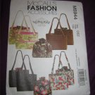 McCall's Sewing Pattern 5944 Fashion Accessories Bags Totes Purses Removable Liners Kay Witt Design