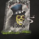 Original Vintage BLACK DEATH VODKA 1992 SLASH SHIRT Size XL (Guns N Roses,Velvet Revolver) RARE