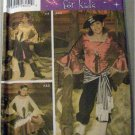 PATTERN 4912 Girl&#39;s PIRATE CARIBBEAN Wench  Halloween Costume Size 7 8 10 12 14