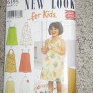 6195 Childs Sundresses with Shoulder Straps or Halter Neck Size 3-8