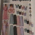 Simplicity 5953 Evening Formal Bridesmaid Skirts, Top, Bustier & Bag Size 12-20