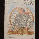 Vintage Kwik Sew Pattern # 457 Mens Western Cowboy Shirt Size 36 38 40
