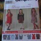 Simplicity 7354 Sz 5 6 7 8 Childrens Dress and Vest UNCUT