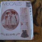McCall&#39;s 8116 Kitty Benton Girl&#39;s Empire Waist Tulip Sleeve Full Dress Sz 4,5,6 Uncut
