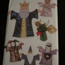 Butterick Pattern 3230 Theatre hand Puppets King,Queen,Wizard,Jester,Knight & Dragon,Stage Curtains