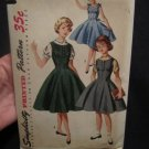 Simplicity 1291 Vintage 1950s Girls one pice dress,Jumper & Blouse size 14