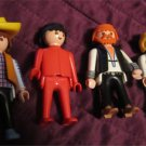 4 playmobil toy figures for playset pieces creative play (biker,hippie chic +2)