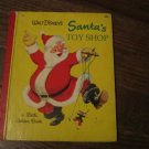 Vintage Little Golden Book Walt Disney's Santa's Toy Shop 1950