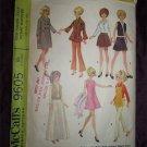Mccalls 9605 Sewing Pattern 1960s Teenage Wardrobe for Barbie