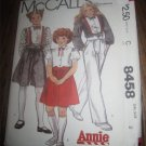 1982 LITTLE ORPHAN ANNIE MOVIE MCCALL&#39;S Sewing PATTERN 8458 SZ 8 BLOUSE SKIRT PANTS