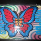 Hippie Butterfly Iron On Patch  Bright Colors Blue/Red Great for Jean Jacket,Jeans etc