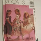 McCall's 6887 Child's Alicyn Wedding party flower girl Girls Tied Overskirt dress
