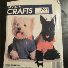 McCalls's Pattern Dapper Dog Wear Sweatshirt,T shirt,Tuxedo and Lace Collars,Raincoat