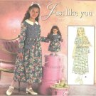 "Simplicity ""Just Like You"" Girls Dress Size 12,14,16  & Includes 18"" Doll Dress Sewing Pattern."