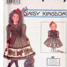 Simplicity Daisy Kingdom 7744 Child Dress Size 8,10,12,14 & Doll Dress Pattern